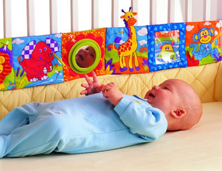 4-6 Months Multi Animal  Bumper Pad Toys Knowledge Around Multifunction Fun And Colorful Bed Baby Bedding YYT080