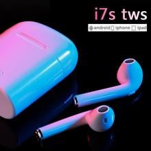 I7s TWS Спортивная bluetooth-гарнитура со стерео беспроводным микрофоном, беспроводная гарнитура, наушники для iPhone X, смартфона, Huawei, Xiaomi