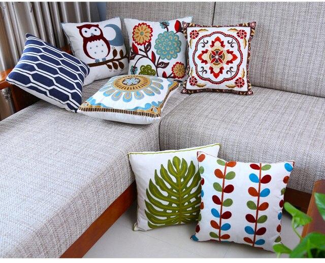Роскошный Европейский вышитые подушки декоративные подушки Диван Декор  Декоративные Подушки 49da018547f78