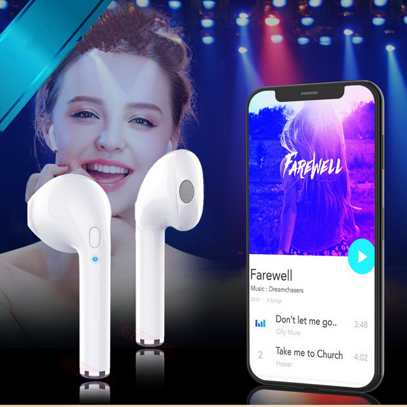 Wireless Earpiece Bluetooth Earphones I7 i7s <font><b>TWS</b></font> <font><b>Earbuds</b></font> Right Ear Headset With Mic For Smart Phone Xiaomi Samsung Huawei LG image