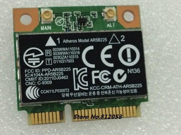 SSEA Nouveau pour Atheros AR5B225 WIFI Bluetooth 4.0 demi Mini PCI-E Sans Fil carte pour HP CQ43 CQ58 DV4 DV6 DV7 G4 G6 SPS 655795-001