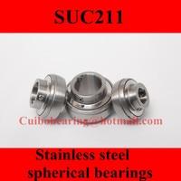 Freeshipping Stainless Steel Spherical Bearings SUC211 UC211