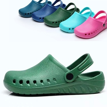 Unisex Scrub Shoes Surgery Shoes with A Back Strap Garden Clogs Lightweight EVA Nurse Shoes Breathable Slip on Shoes surgery on call