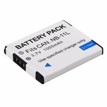 1Pcs 1000mah  NB-11L Battery NB 11L NB11L Batteries For Canon A2600 A3500 A4000IS IXUS 125 132 140 240 245 265 155 HS