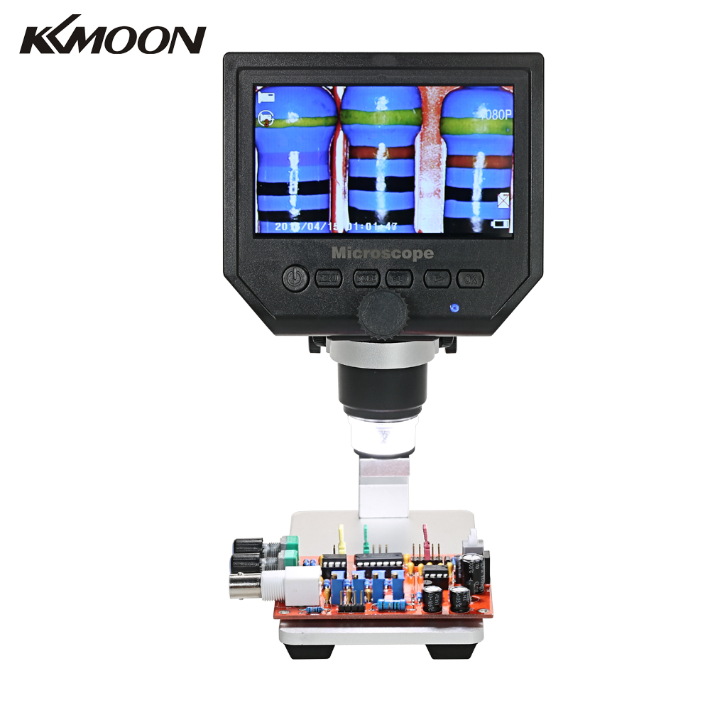 600X3,6 Мп 4,3 дюймов HD светодиодный цифровой микроскоп Мобильный телефон обслуживание микроскоп электронный микроскоп видео лупа