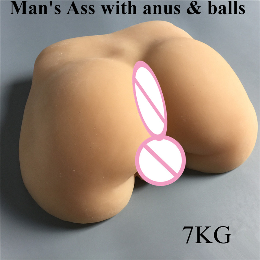 New 1:1 size 7.5 KG artificial man;s ass sex doll for women and man gay sex toys sex doll 9 5 kg 3d 1 1 real size man s body full silicone sex doll with penis and anus anal hole sex doll for gay or woman
