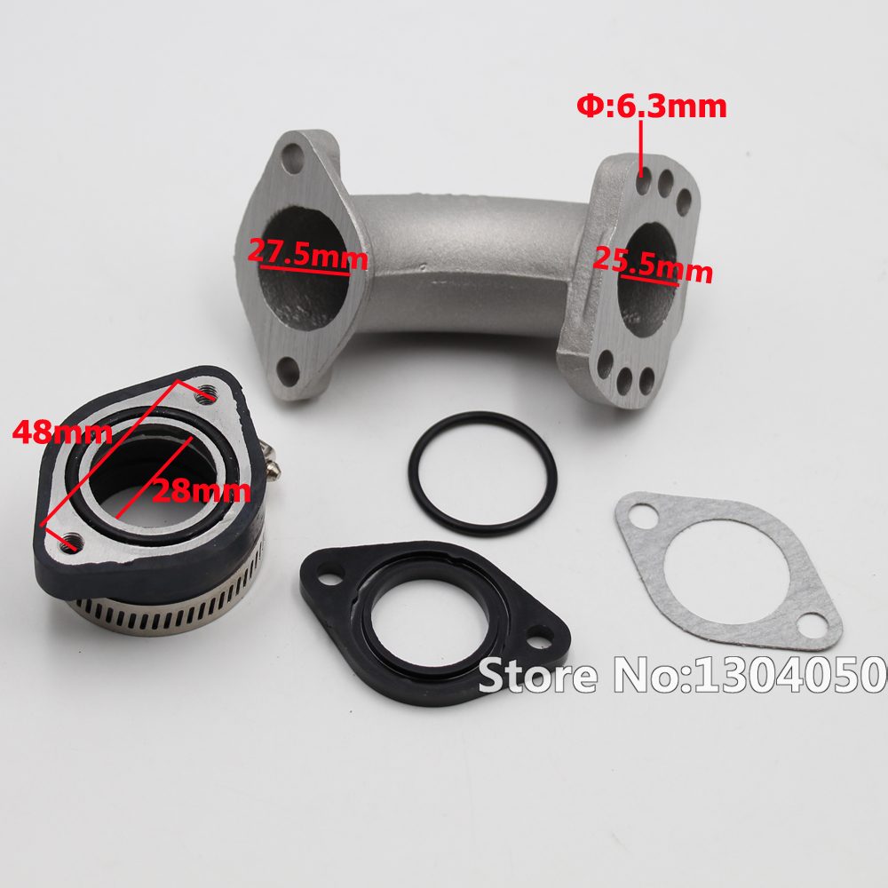 Carb Air Inlet Joint for GY6//150cc//ATV Gasket Intake Manifold Carburetor Boot Joint