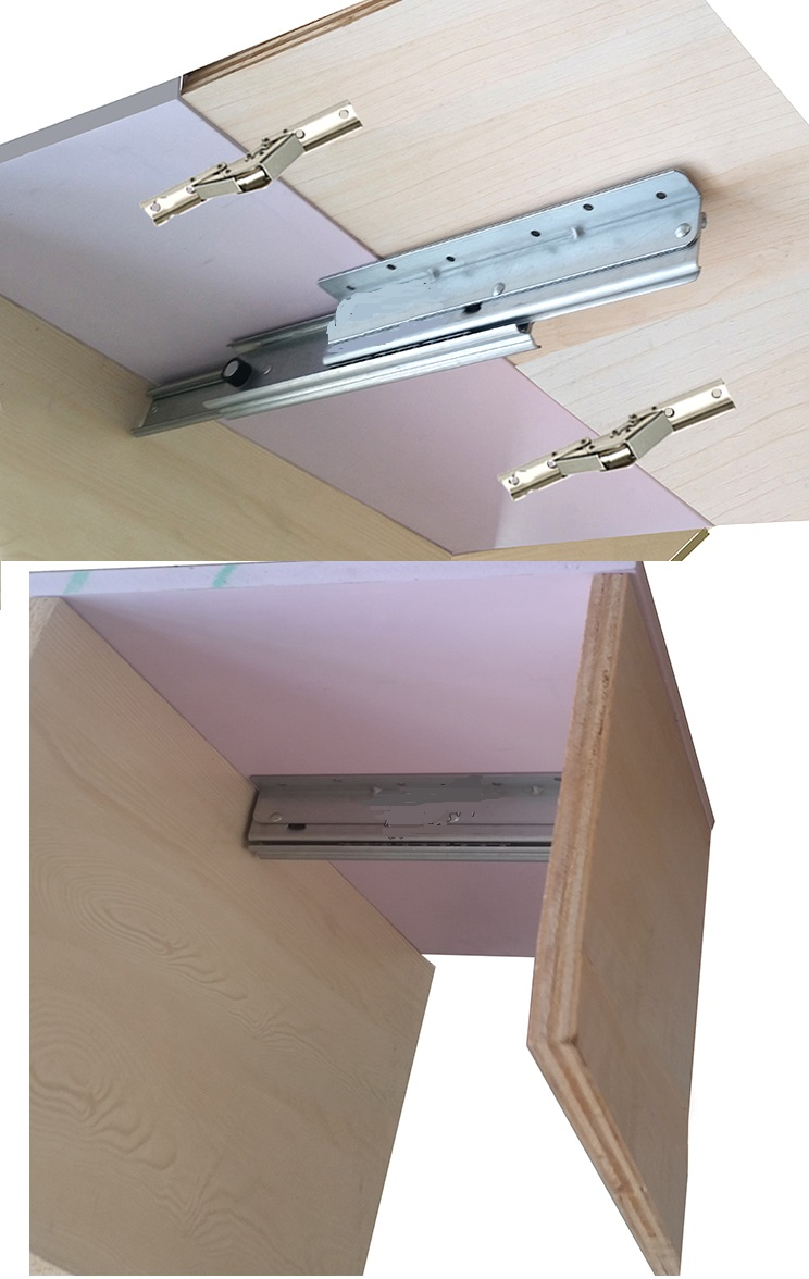 (1 slide+2 hinges)/Lot extendable table slide hardware fitting table top extension RV folding table цены онлайн