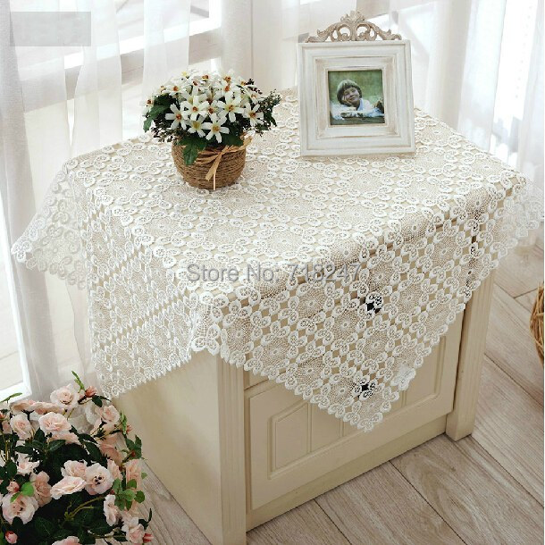 New Arrival High Quality <font><b>Elegant</b></font> Full Lace Tablecloths White Wedding Table Cloth Cover Overlays <font><b>Home</b></font> <font><b>Decoration</b></font> Textiles XYS007