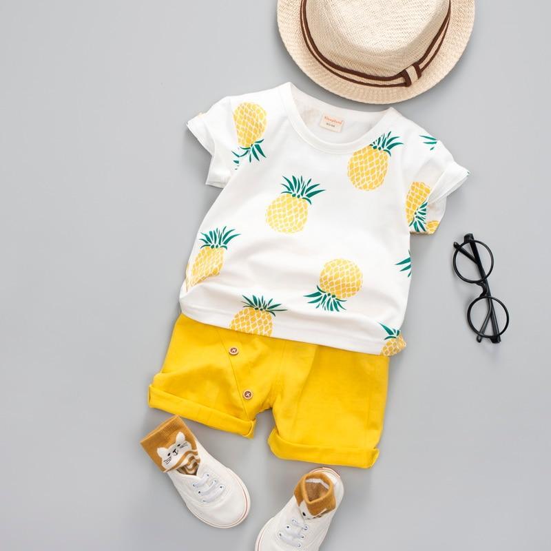 Summer Cotton Baby Short Sleeve Romper Fox Pattern Impreso Boys Girls Body Fashion O-Neck Infant Romper Ropa unisex