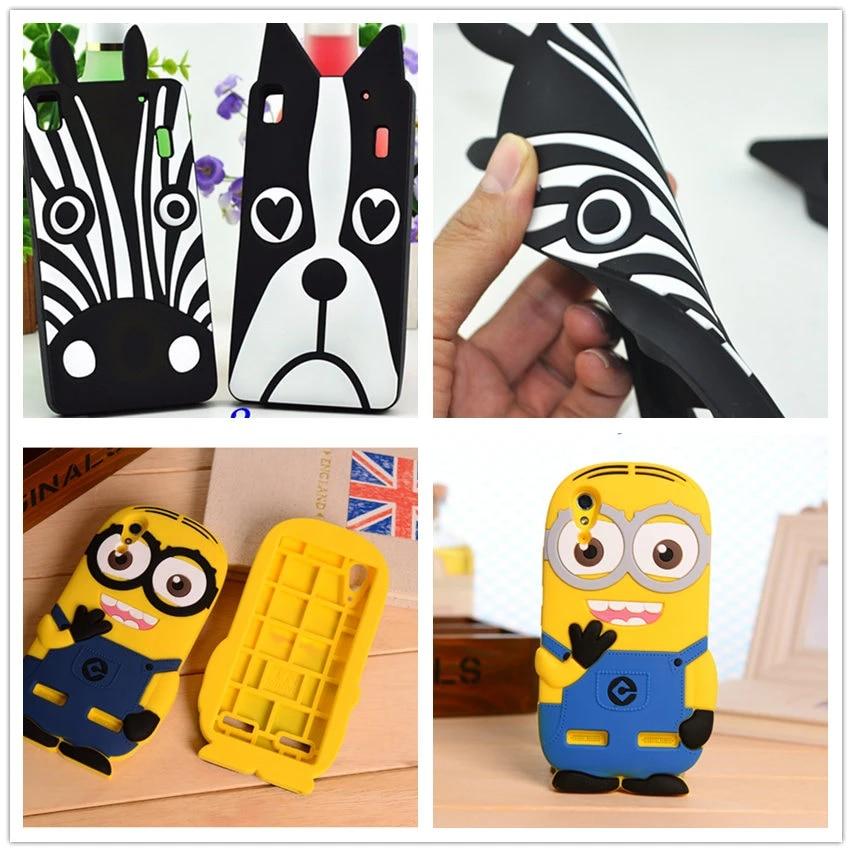 Cute Cartoon 3D Minion Dog zebra Soft Silicone Case for Lenovo S90 / Lenovo S850 S850t / Lemon K3 A6000 phone Case Coque Fundas