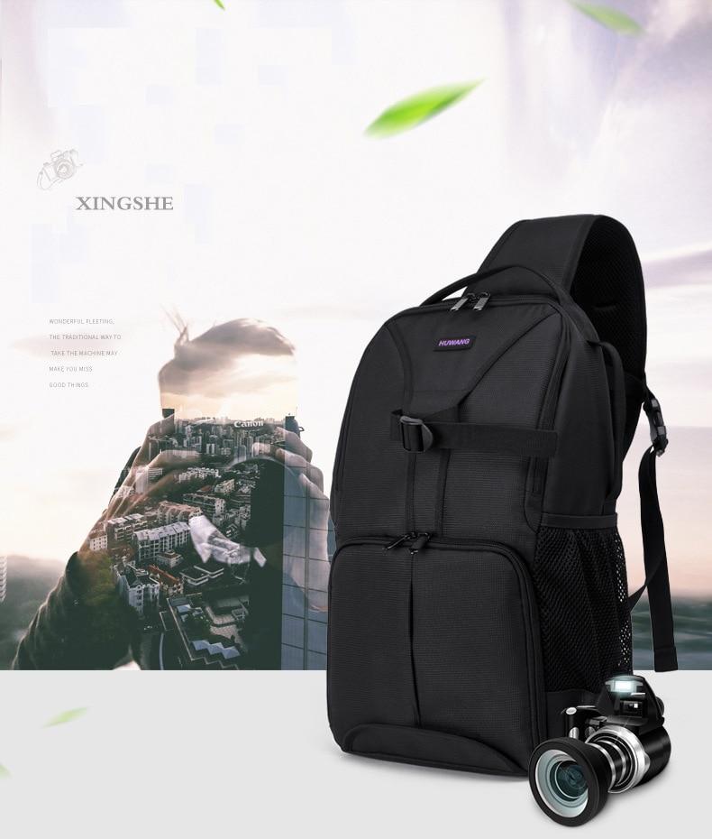 Huwang Camera Bag Waterproof Camera Shoulder Bag Padded Shockproof Camera Case Bag for Nikon