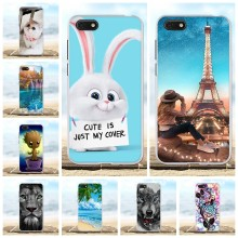 For Huawei Y5 2018 Case Soft TPU For Huawei Y5 Prime 2018 DRA-LX2 DUA-LX2 Cover Lion Patterned For Huawei Honor Play 7 7s Funda(China)