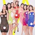 2017 lingerie Sexy hot escavar fantasias eróticas das mulheres mulitcolor plus size lingerie luz nylon sexy moda íntima