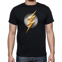 The Flash Adult Tee shirt high quality 3 Colors (S,M,L,XL) .. Very Fast shipping summer o neck tee, free shipping cheap tee