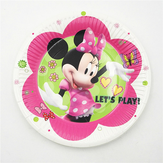 10pcs/set 7inch Minnie Mouse Plate Children Party Supplies Theme Kids Funny Hot Birthday Party & 10pcs/set 7inch Minnie Mouse Plate Children Party Supplies Theme ...