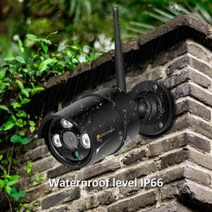 Image 5 - Jennov H.264 5MP 4CH Домашняя безопасность беспроводная камера системы видеонаблюдения набор камера наблюдения WIFI NVR Беспроводная 1080P IP камера наружная IR Cut