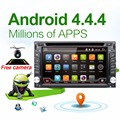 Car Electronic autoradio 2din android 4.4 car dvd player stereo GPS Navigation WIFI+Bluetooth+Radio+1.2G CPU+3G+TV (Option)