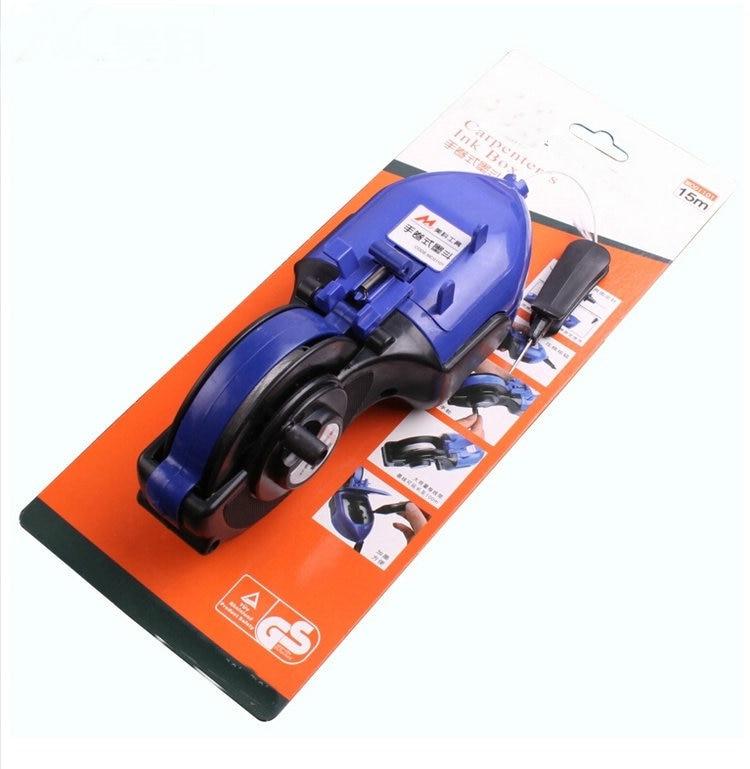 Herramienta de carpintería de envío gratis Carpintero Manual Marcador de tinta Scriber Fuente de tinta Conducto de tinta con líneas de tiza de 15M y forma grande