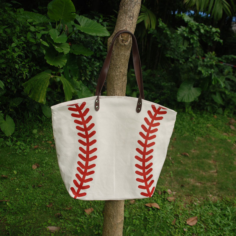 Bolso grande de Base ball al por mayor, en blanco, bolsa de lona de softbol para adultos 22L * 17H * 8W pulgadas DOMIL accesorios de equipo bolso DOM106281-in Cubos from Maletas y bolsas    2
