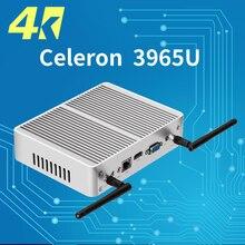 Fanless Mini PC DDR3 RAM 4K Resolution Windows 10 Mini Computer Celeron 3965U Desktop PC 300M