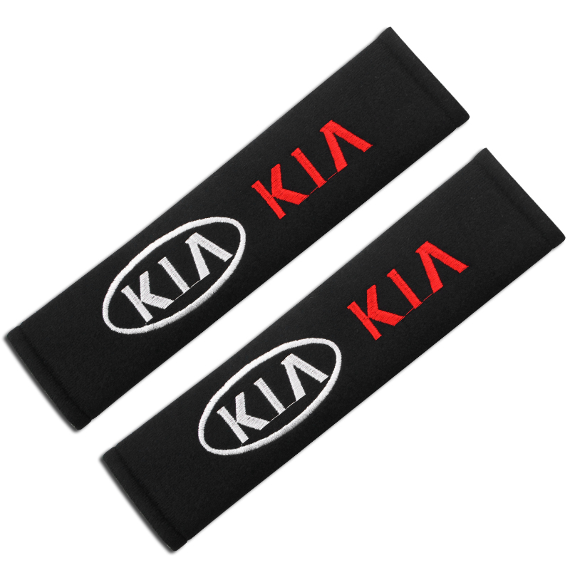 Image 2 - 1x Car Styling Accessories Seat Belt Shoulders Pad Truck Cushion Cover For Kia Ceed Rio Sportage R K3 K4 K5 Ceed Sorento Cerato-in Car Stickers from Automobiles & Motorcycles