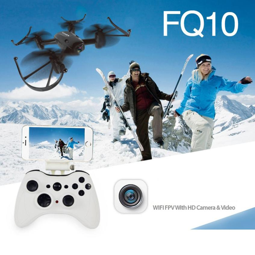 FQ777 FQ10 WiFi Drone with 720P Camera RTF 6-axis Gyro 2.4GHz RC Quadcopter Helicopter Toy Remote Controls Quadcopter fq777 fq19w rc helicopter 3 5ch 6 axis