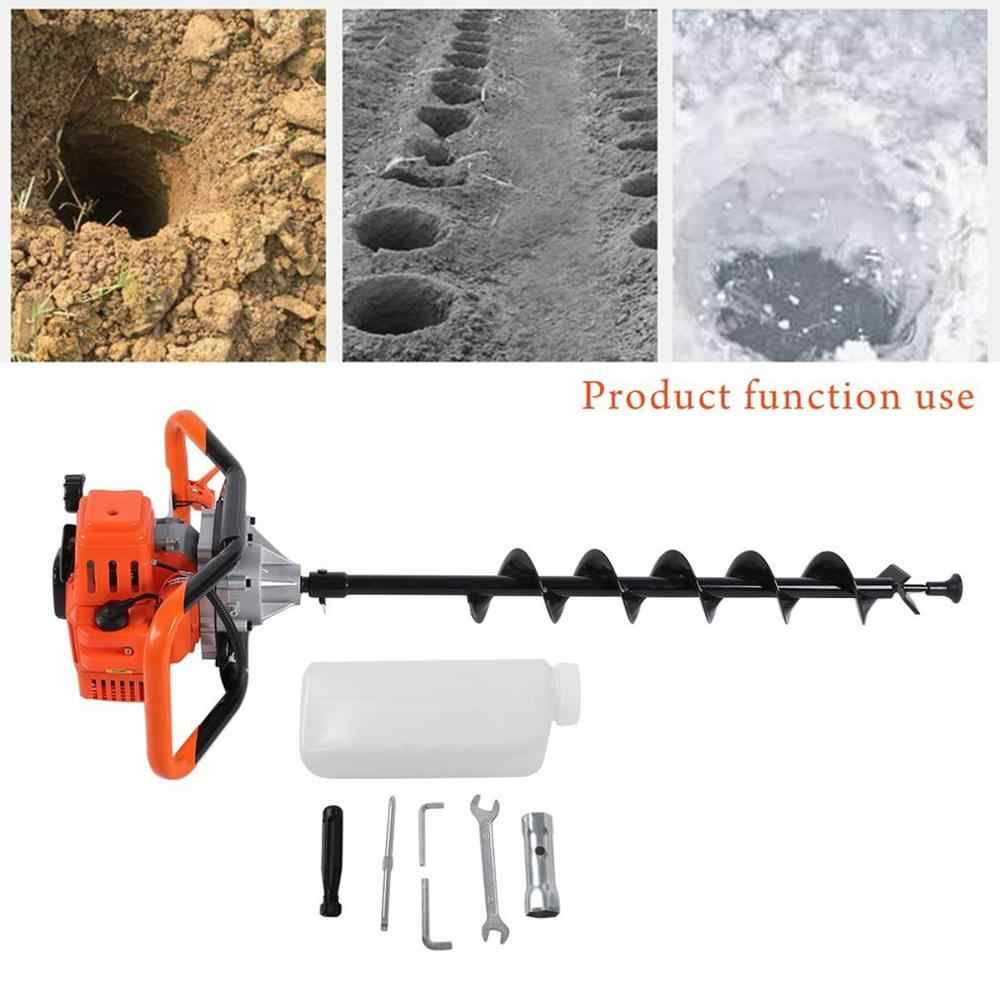 Bensin Earth 200 Auger Alat Penggali Lubang Bor Pagar Profesional Bor Tanah Mesin Bit Alat Pertanian