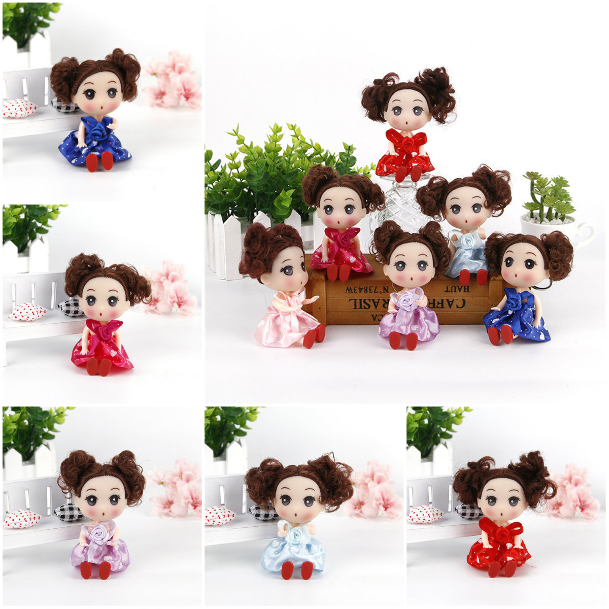 1 Pc 12cm Confused Doll Wedding Dolls Girl Toys Baby Doll Creative Children's Toys Online Shop