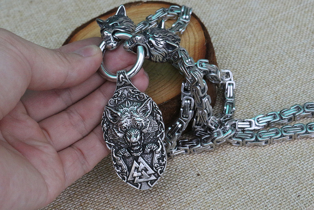 FENRIR MJOLNIR VIKING NECKLACE