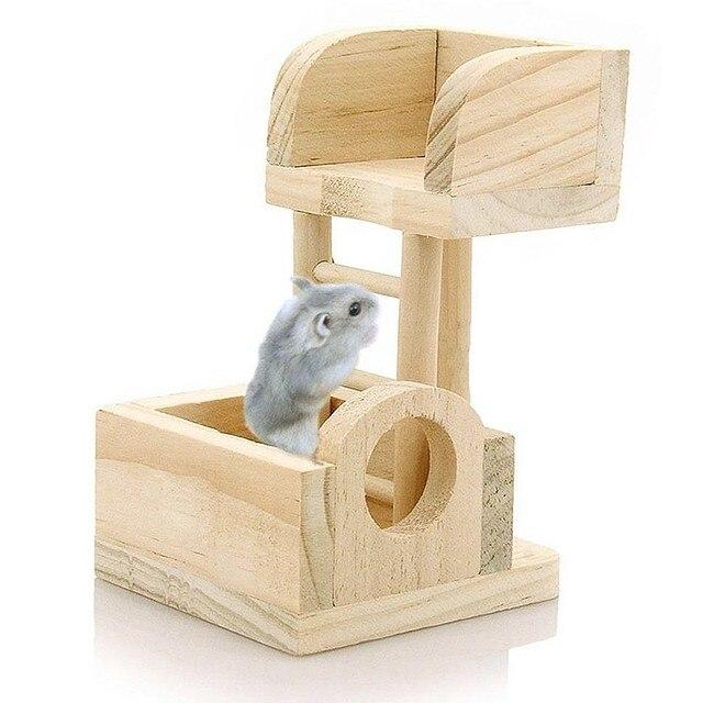 Новое Животное Крыса Игрушки Лестница Мыши Деревянные Хомяка Забавные Упражнения Смотровая Башня Качели Молярная Цветастые Естественные, Хомяк Игрушки