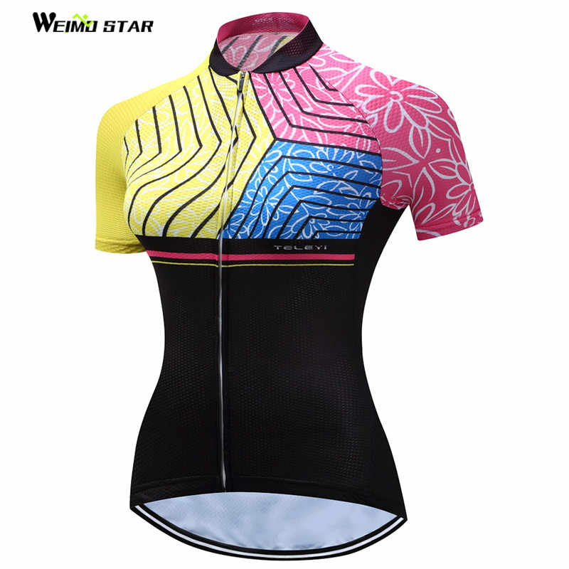 af99260c3 Weimostar MTB Cycling Jersey Female Bike Clothing 2017 Ropa Ciclismo Jersey  Riding bicycle Top T -