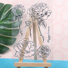 Rose Flowers Transparent Clear Stamps For Scrapbooking Flower Diy Photo Album Card Craft