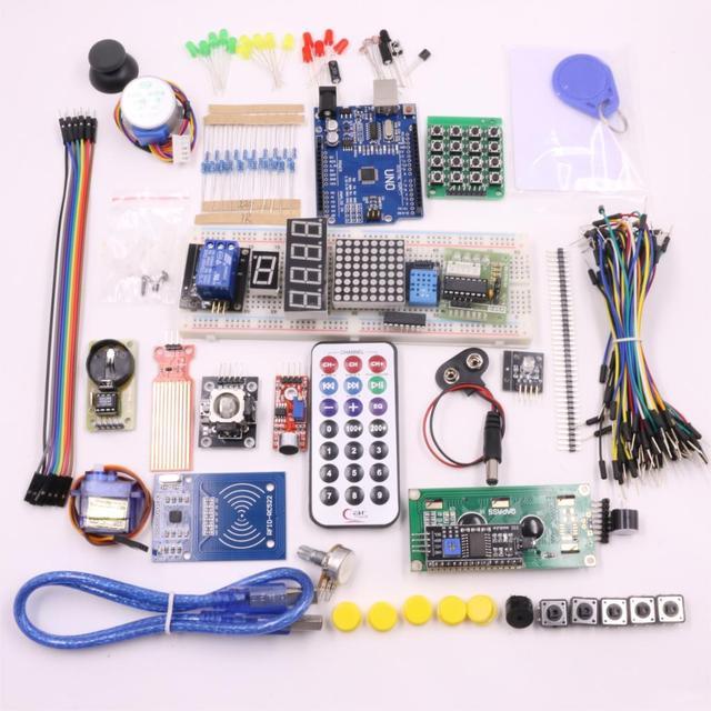 RFID Starter Kit Eletrônico DIY para Arduino UNO R3 Versão Atualizada Kit Suíte Aprendizagem Frete Grátis