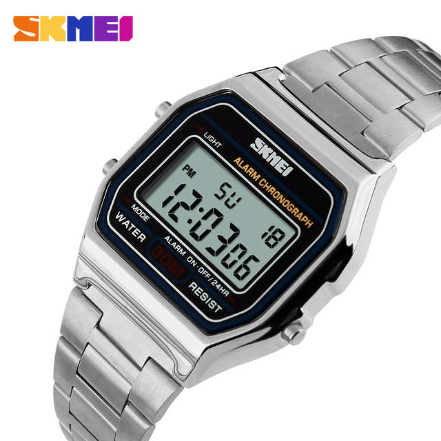 a733dcd76ef placeholder SKMEI Hot Men LED Digital Watch Sports Watches men s Relogio  Masculino Relojes Stainless Steel Military Waterproof