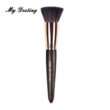 Кисть для основы для макияжа MY delivery, плоская основа из шерсти козы, кисти для макияжа Kwasten Pincel Maquiagem Brochas Maquillaje 003