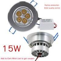 15W 5x3W AC100 245V Mini Aluminium Non Dimmable Luminaria Spot LED Recessed Downlight LED Down Light