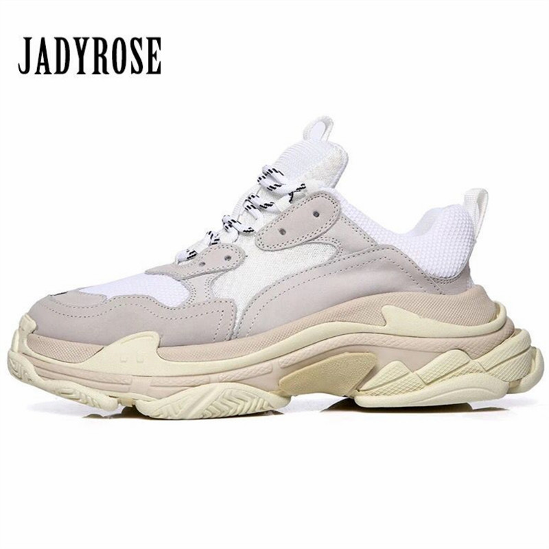 Jady Rose White Sneakers Women Platform Casual Flats Creepers Tenis Feminino Espadrilles Chaussures Femme Flat Shoes Woman