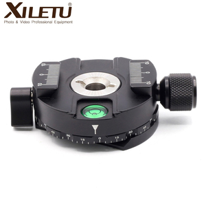 Image 3 - XILETU XPC 60C 360 Degree Panoramic Clamp Aluminum Alloy Adapter Quick Release Plate Tripod DSLR Photography Accessory