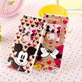 Para iphone hard casos mickey minnie mouse case luxo celular acrílico casos de telefone para o iphone 6 6 s plus capa case com anel stand