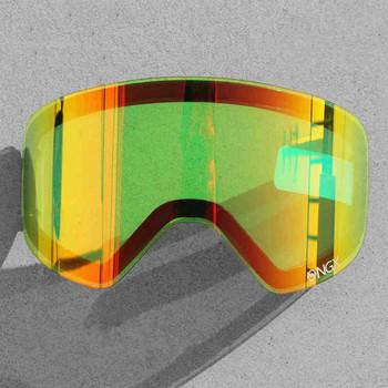 Profesjonalne DIY podwójna warstwa anty mgła gogle narciarskie soczewki wymienne narciarstwo okulary soczewki NG6 dzień i noc wizja dodatkowe soczewki NG6 tanie i dobre opinie NANDN Tytanu green Poliwęglan Black 22 5cm 9 5cm Lenses NG6 Skiing 1* Lens Nandn Ski Goggle NG6