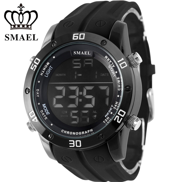 2016 Outdoor Sports Watches Waterproof IP Alloy Case Silicone Band Men's Watches Auto Date Causal Wrist Watch for Male WS1145