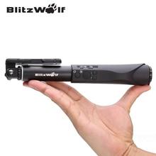 BlitzWolf Selfie Vara Bluetooth Selfie Prorrogável Vara Selfie Bluetooth Monopé Universal Para Samsung Para o iphone 6 6 S Plus
