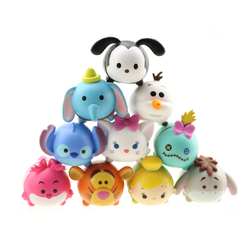 Tsum Tsum 10Pcs/lot 3.8CM Tsum Doll Donald Mickey Winnie Duck Toys Cute Elf Doll Bathing Toy Juguetes For Chirldren Gift fancytrader new style giant plush stuffed kids toys lovely rubber duck 39 100cm yellow rubber duck free shipping ft90122