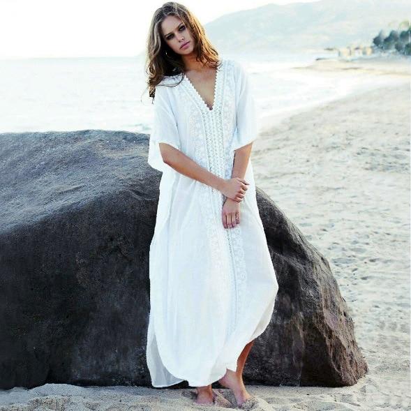 7ff8d98dbfcb6 Swimsuit Cover Up Tunics For Beach Swim Suit Woman All Summer Clothes  Women's Dress Women Cotton