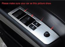 For Nissan X-Trail X Trail 2010 – 2013 Stainless Steel Inner Door Armrest Window Lift Button Cover Trim