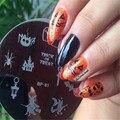 1 Unid Bruja de Halloween Nail Art Sello Plantilla Placa de la Imagen NACIDO PRETTY BP81