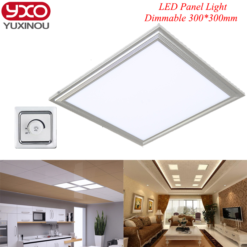 ФОТО Dimmable LED panel light square lampada 300x300mm 12W 18W high bright led indoor ceiling lamp white /warm white with led driver