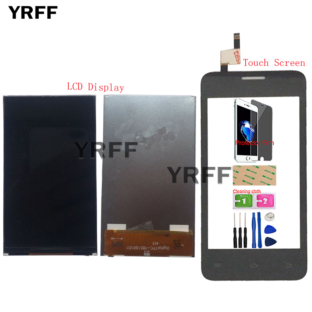 Mobile LCD Display Touch Screen For FLY FS403 LCD Display Touch Screen Assembly Digitizer Panel Front Glass Tools Protector FilmMobile LCD Display Touch Screen For FLY FS403 LCD Display Touch Screen Assembly Digitizer Panel Front Glass Tools Protector Film