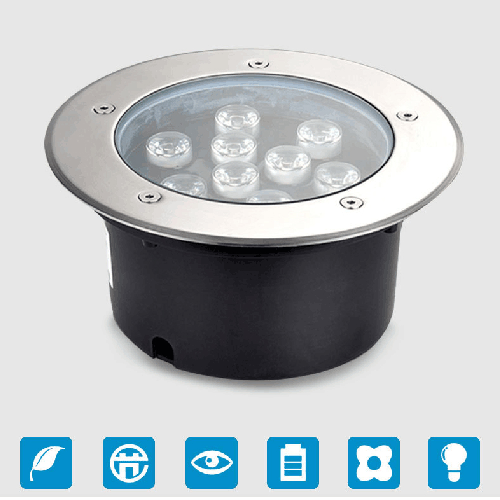 3W-36W LED Underground Light Buried Lighting Stainless Steel LED Outdoor Lamp Light Led Aluminum Spotlight IP68 AC100-265V